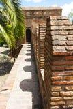 Parede de Alcazaba Imagem de Stock