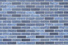 Parede de alvenaria construída de tijolos azuis Fotografia de Stock Royalty Free