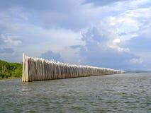 A parede de bambu Imagens de Stock Royalty Free