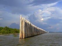 Parede de bambu Fotografia de Stock