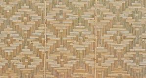 Parede de bambu da estrutura Fotos de Stock