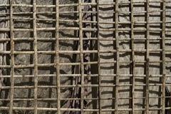 Parede de bambu da lona Imagens de Stock
