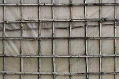 Parede de bambu da lona Imagens de Stock Royalty Free