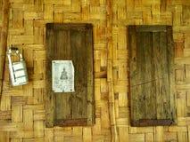 Parede de bambu em Nan, Tailândia Fotos de Stock Royalty Free