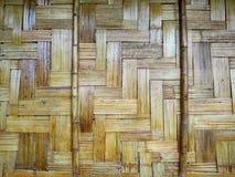 Parede de bambu em Nan, Tailândia Foto de Stock Royalty Free