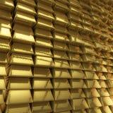 Parede de barras de ouro Imagens de Stock