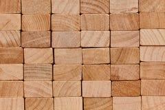 Parede de blocos de madeira Imagens de Stock