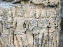 Parede de Borobudur imagem de stock