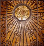 Parede de bronze do art deco Imagens de Stock Royalty Free