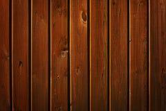 Parede de Brown de pranchas de madeira Imagens de Stock