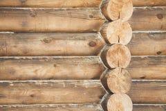 Parede de casas de madeira Foto de Stock Royalty Free