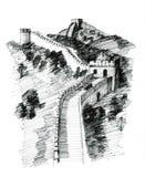 Parede de China ilustração royalty free