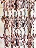 Parede de correntes de suspensão Imagens de Stock Royalty Free