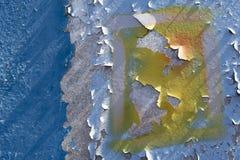 Parede de corrosão do metal Imagens de Stock