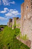 Parede de cortina exterior Kent Southern England de Dover Castle Reino Unido imagem de stock