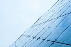Parede de cortina moderna feita do vidro tonificado Foto de Stock