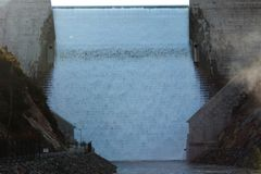 Parede de Cotter Dam Imagem de Stock