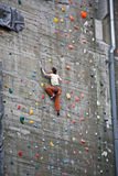 Parede de escalada Fotografia de Stock Royalty Free