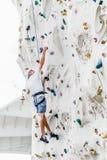 Parede de escalada do homem mais idoso Fotografia de Stock Royalty Free