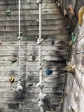 Parede de escalada para a criança, fundo, textura fotografia de stock