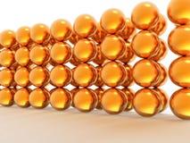 Parede de esferas do ouro Foto de Stock