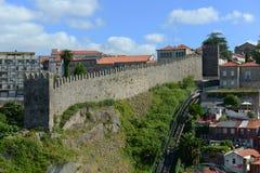Parede de Fernandina, Porto, Portugal fotos de stock