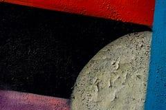Parede de Graffity Sumário detal do close-up urbano do projeto da arte da rua Cultura urbana icónica moderna, teste padrão à moda Fotos de Stock