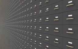 Parede de Gray Filing Cabinets Foto de Stock Royalty Free