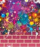 Parede de Grunge das cores ilustração stock