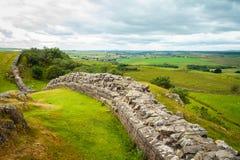 A parede de Hadrian fotografia de stock royalty free