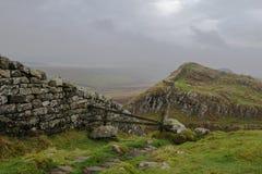 Parede de Hadrian Foto de Stock Royalty Free