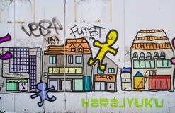 Parede de Harajuku Fotografia de Stock Royalty Free