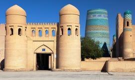 Parede de Itchan Kala - Khiva - Usbequistão Foto de Stock Royalty Free