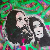 Parede de John Lennon Foto de Stock