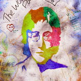 Parede de John Lennon Foto de Stock Royalty Free