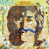 Parede de John Lennon Imagens de Stock