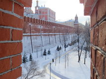 Parede de Kremlin Fotografia de Stock
