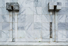 Parede de mármore velha Foto de Stock Royalty Free