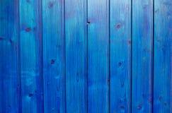 Parede de madeira azul Imagens de Stock