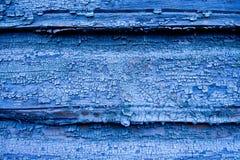 Parede de madeira azul rachada Imagens de Stock Royalty Free