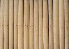 Parede de madeira de bambu, fundo da natureza Imagens de Stock Royalty Free
