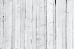 Parede de madeira branca áspera velha, textura do fundo Fotografia de Stock Royalty Free