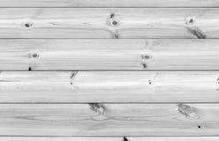 Parede de madeira branca feita de placas do pinheiro Fotografia de Stock