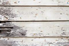 Parede de madeira branca velha Imagens de Stock Royalty Free