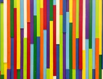 Parede de madeira colorida Fotografia de Stock
