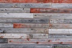 Parede de madeira colorida velha Fotos de Stock