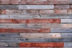 Parede de madeira colorida velha Imagens de Stock Royalty Free
