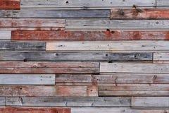 Parede de madeira colorida velha Fotos de Stock Royalty Free