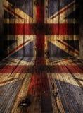 Parede de madeira com jaque do unoin Imagens de Stock Royalty Free