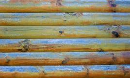 Parede de madeira com pintura da casca Foto de Stock Royalty Free